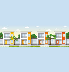 Modern townhouse in the suburbs vector