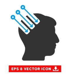 Neuro interface eps icon vector