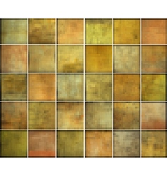 Orange square tile grunge pattern backgrounds coll vector