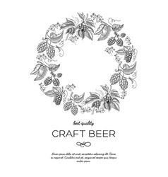 Original circle wreath ornament card doodle vector