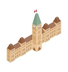 Parliament buildings ottawa icon vector