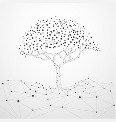 poly tree vector image
