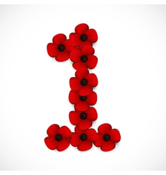 Poppies number vector