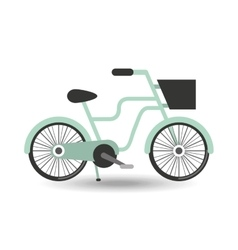 Retro bicycle design vector
