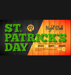 saint patricks day party invitation or flyer vector image vector image