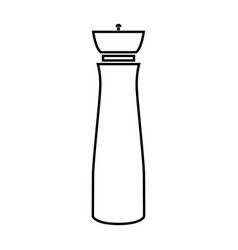 Salt and pepper mill it is black icon vector