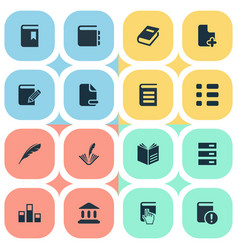 set of simple knowledge icons vector image