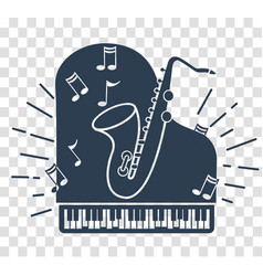 Silhouette icon of jazz music vector