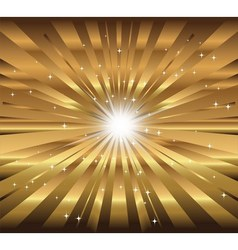 star ray with lens flare golden background vector image