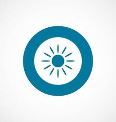Sun bold blue border circle icon vector