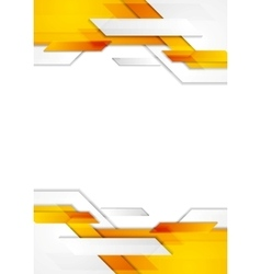 Tech corporate geometric flyer design vector