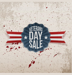 Veterans day sale holiday emblem vector