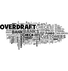Why bank overdrafts may be a bad deal for you vector