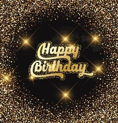 Happy birthday glitter background 2907 vector
