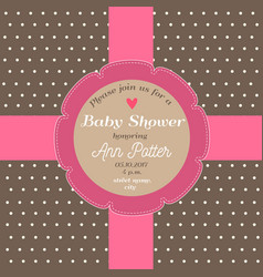 baby shower invitation card with chocolate vector image