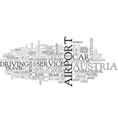 Austria text word cloud concept vector