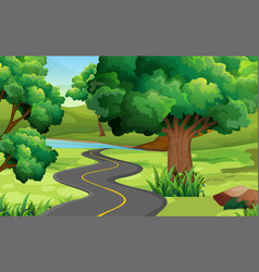 Road to the countryside vector