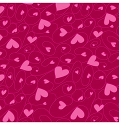 Swirly hand drawn heart pattern in format vector