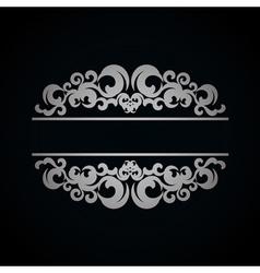 White vintage pattern on dark background vector