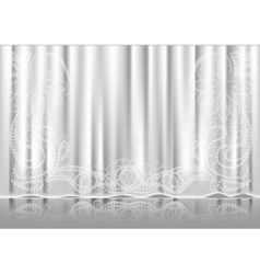 Curtain white vector