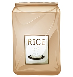 A packet of rice vector