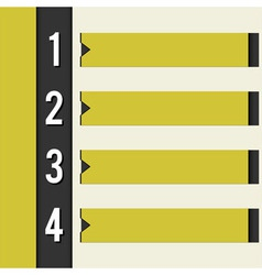 Yellow info bar vector