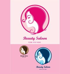 Beauty pink saloon vector