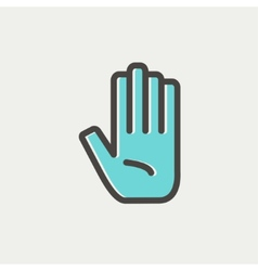 Hand thin line icon vector
