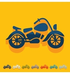 Flat design motorcycle vector