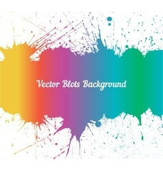 Spectrum ink splashes over white vector