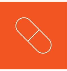 Capsule pill line icon vector