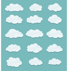 Set of lined clouds vector
