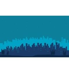 Big city scenery silhouettes vector