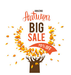 big seasonal sale vector image vector image