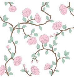 Blossoming roses on a light background vector