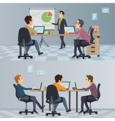 Business teamwork composition vector