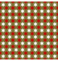 Christmas seamless wrapping paper with stars vector