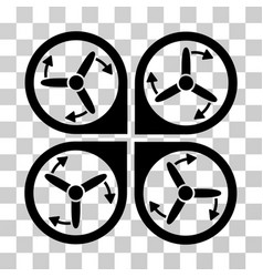 Copter screws rotation icon vector