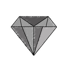 Diamond gem icon vector