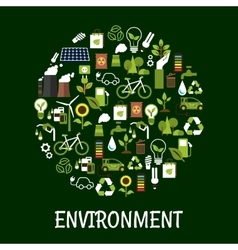 Environmental ecology friendly poster vector image vector image