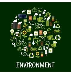 Environmental ecology friendly poster vector