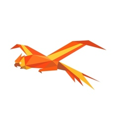 Flying macaw parrot vector