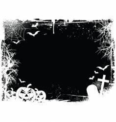 grunge Halloween border vector image