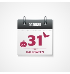 halloween calendar background vector image vector image