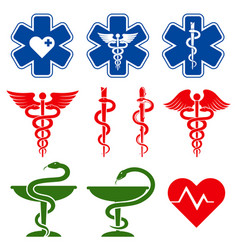 International medical pharmacy and emergency care vector