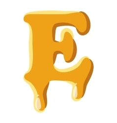 Letter E from honey icon vector image