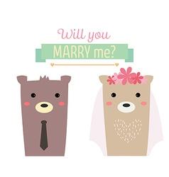 Married bear vector