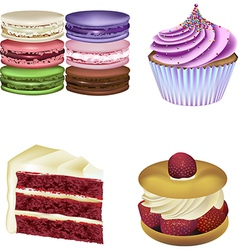 patisserie collection vector image vector image