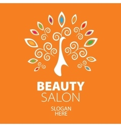 Peacock logo for beauty salon vector