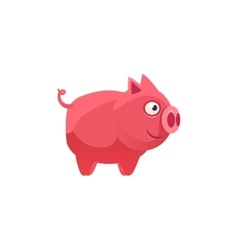 Pig Simplified Cute vector image vector image